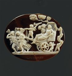 Camée : Dyonisos sur un char conduit par Psyché. 1es siecle av J.-C.