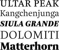 Alpine Serifenschrift Brenta #Serifenschrift von Typedesigner Ludwig Übele aus Berlin #Typo #Typedesign #Typografie #Webfont