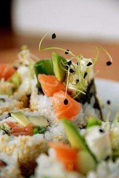 Recette Sushi en cornet (Temaki) saumon fumé - graines germées