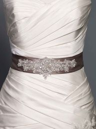 belt with glittery snowflake design
