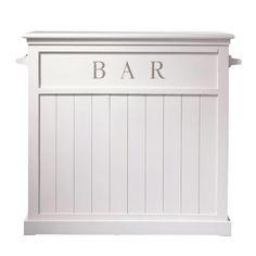 Mobile bar bianco in legno L 120 cm Newport