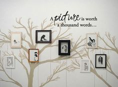 Etsy - A picture is worth a thousand words...  Vinyl Wall by 7decals, $20.99 to go behind the sofa