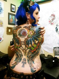 """That Girl with the Steampunk Tattoo"""