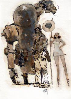 Ashley Wood | Robots vs. Zombies vs. Amazons