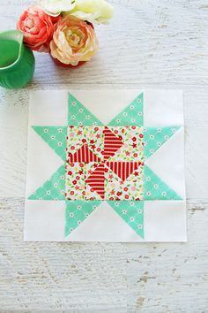Meet the Makers Quilt Along Block 4 Star Quilt Patterns, Star Quilts, Pattern Blocks, Quilt Blocks, Quilting Tutorials, Quilting Ideas, Patchwork Tutorial, Quilt As You Go, Block Of The Month