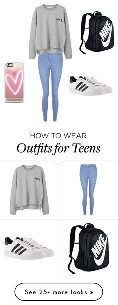 """""""Airport Casual ✈️"""" by nicole9811 on Polyvore featuring New Look, MANGO, adidas, Casetify and NIKE"""