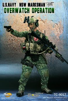 onesixthscalepictures: Toys City U.NAVY NSW Marksman Overwatch Operation : Latest product news for scale figures inch collectibles. Special Ops, Special Forces, Gi Joe, Airsoft, Naval Special Warfare, Battle Dress, Military Action Figures, Armor All, Top Toys