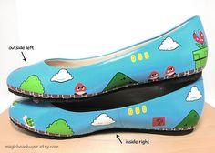 Mario shoes! Nice.