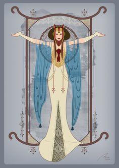 Queen Amidala (Alphonse Mucha revisited)
