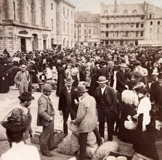 "zippalu: "" The marketplace in old town, Quebec City, Canada- 'Life to-day in picturesque settings of early times. Photos Du, Old Photos, Vintage Photos, Old Quebec, Quebec City, Chute Montmorency, Chateau Frontenac, Le Petit Champlain, Canadian History"