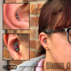 Good morning!  Here's a nice little #cluster from #Anatometal that found it's new home inside of this fresh #conch.  Thank you for looking, and have a beautiful day.  #app #appmember #proudmember #associationofprofessionalpiercers #safepiercing...