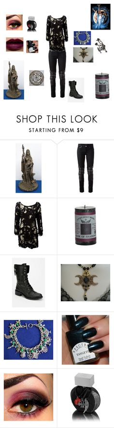 """hecate modern"" by shadow-dxlvi ❤ liked on Polyvore featuring Yves Saint Laurent, Religion Clothing, Joanna Laura Constantine, Sam Edelman, NARS Cosmetics, Crash & Burn and modern"