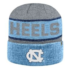 Adult Top of the World North Carolina Tar Heels Below Zero II Beanie, Adult Unisex, Light Blue