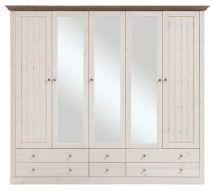 Monaco*5 ajtós szekrény fehér fenyő