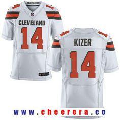 Men's 2017 NFL Draft Cleveland Browns #14 DeShone Kizer White Road Stitched NFL Nike Elite Jersey