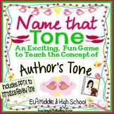 Author's Tone ELA Game + PowerPoint - Middle and High Scho