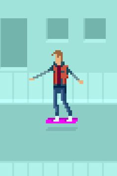 PixelArtus - The Power of Pixel Art • Marty McFly rides the Hoverboard (Back to the...