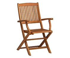Sedia in legno di eucalipto Stockholm naturale - 58x109x65 cm