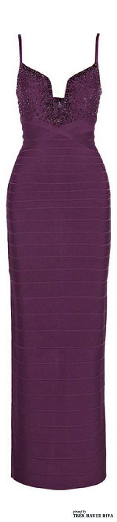 Herve Leger Bead-embellished bandage gown