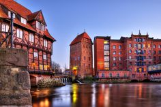 Luneburg | Old Mill And Water In The Historic Part Of Lunenburg | Lower Saxony | Germany | Photo By Luna Pictures