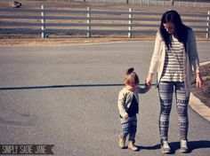 Lovely mother and daughter clothing