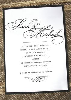 Simply Elegant Wedding Invitation by Annamalie on Etsy, $2.25