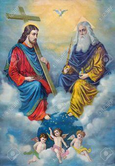 Catholic Pictures, Pictures Of Jesus Christ, Religious Photos, Religious Art, Religious Paintings, Catholic Art, Catholic Saints, Baptism Of Christ, Jesus Photo