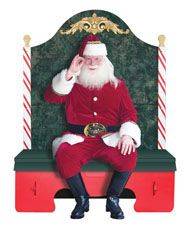 Couch for Claus – A portable Santa Chair that folds up for transport and storage