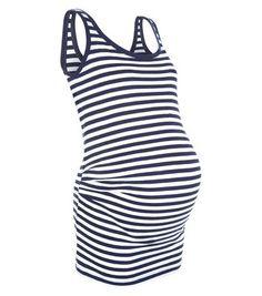 Cool Maternity Blue Stripe Vest
