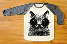 Hey, I found this really awesome Etsy listing at http://www.etsy.com/listing/158290235/mustache-cat-glasses-t-shirt-cat