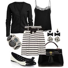 Classic  Chic, created by alanad23, black and white delight