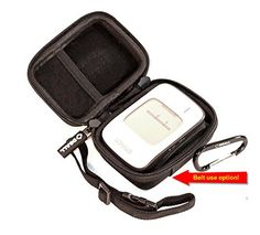 DSAll Hard Case Travel bag for Portable bp monitor Omron BP652N 7 Series Wrist Blood Pressure Monitorbelt hangingfor Medical ProsMesh pocketAdjustable handle2 side ZipperCarabinerTRAVEL N STYLE >>> Read more reviews of the product by visiting the link on the image.