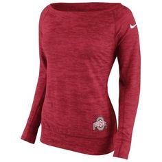 Nike Ohio State Buckeyes Women's Scarlet Warp Epic Sweatshirt