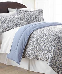 Love this Jacobean Micro Flannel® Comforter Set by Shavel Home Products on #zulily! #zulilyfinds. $49.99