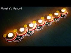 Simple Border Rangoli Design For Diwali - YouTube