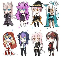 Adoptable Set 9 CLOSED! by Edalie-chan on DeviantArt