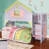 Toddler bed for baby girl ~ Found it at Wayfair - Donco Kids Twin Doll House Loft Bed with Staircase