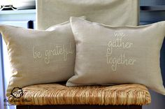 Decorative Pillow Cover Fall Thanksgiving Be Grateful by SuttonPlaceDesigns