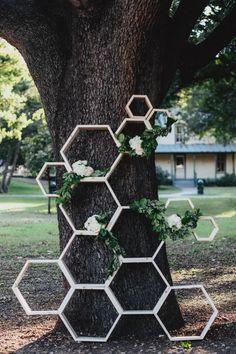 Honeycomb ceremony backdrop   Jojo Pangilinan Photographers: