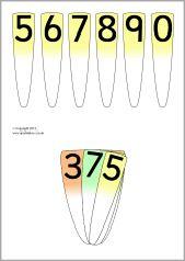 Place value number fans (SB7537) - SparkleBox
