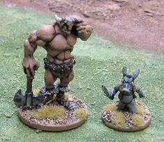 Someone painted the Citadel Miniatures figure of Cerebus. These miniatures were unauthorized by Dave Sim, but just send him a dollar or two if you buy one of these figures & a letter, and he'd prolly be fine with it. Or at least get a laugh at getting paid 20+ years after the fact.