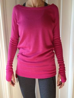 lululemon chai time sweater in paris pink