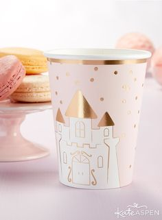 Paper Cups (Set of fantastic fairytale party calls for fantastic cups! Our Princess 8 oz. Paper Cups accent your girl's birthday, Princess Birthday, Princess Party, Girl Birthday, Paper Cups, Paper Plates, Birthday Party Decorations, Birthday Parties, Fairytale Party, Kate Aspen