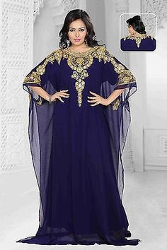 Details about ****EID SPECIAL**** Dubai Style kaftan farasha Jalabiya maxi dress… Arab Fashion, Muslim Fashion, Modest Fashion, African Fashion, Kaftan Designs, African Attire, African Dress, Abaya Mode, Eastern Dresses