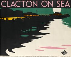 Old posters offer a glimpse into British seaside holidays in the Posters Uk, Railway Posters, Beach Park, British Seaside, British Isles, British Travel, Seaside Holidays, Tourism Poster, Sea Art