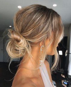 Short Hair Makeup, Blonde Hair Makeup, Short Curly Hair, Wedding Hair And Makeup, Short Hair Cuts, Bridesmaid Hair Updo Braid, Medium Hair Styles, Curly Hair Styles, Easy Hairstyle Video