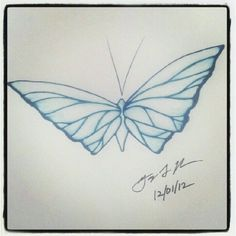 "100 Butterflies in 100 Days, Day 56 - ""Calming"", Medium: Color Pencil"