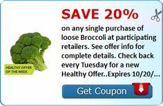 SavingStar Healthy Offer: 20% Off Loose Broccoli!