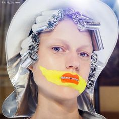 The Martin Margiela 2016 Artisanal Collection makeup for the catwalk by Pat McGrath and her team pushed the boundaries with unique application and styling.