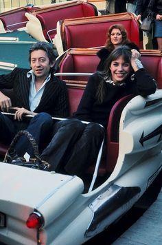 Serge Gainsbourg and Jane Birkin, 1970's.